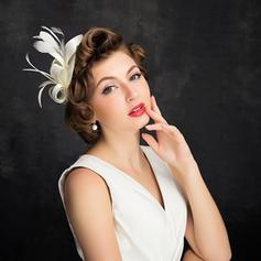 Señoras' Elegante Pluma/Tul con Pluma Tocados