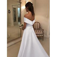 vestidos de novia con tren desmontable