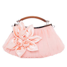 Clutches/Wristlets Wedding/Ceremony & Party Satin/Silk Kiss lock closure Elegant Clutches & Evening Bags