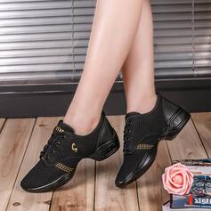 De mujer Zapatillas Zapatillas Tejido con Cordones Zapatos de danza