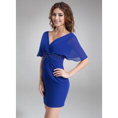 sexy azul vestidos de cocktail