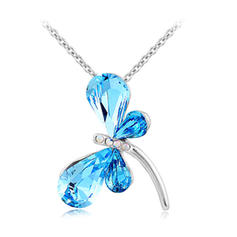 Necklaces Platinum Plated Crystal Lobster Clasp Ladies' Wedding & Party Jewelry