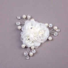 "Combs & Barrettes Wedding/Special Occasion/Party Imitation Pearls/Net Yarn 3.94""(Approx.10cm) 1.18""(Approx.3cm) Headpieces"