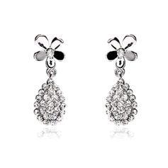 Earrings Alloy/Rhinestones Earclip Ladies' Flower Shaped Wedding & Party Jewelry