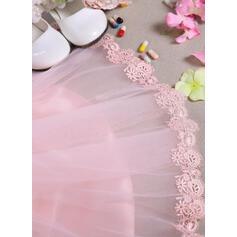 Robe Marquise Longueur genou Robes à Fleurs pour Filles - Tulle/Dentelle Sans manches Col rond avec Brodé/À ruban(s) (010092078)