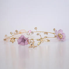 """Headbands Wedding/Special Occasion Crystal/Alloy/Flannelette 8.66""""(Approx.22cm) 3.15""""(Approx.8cm) Headpieces"""