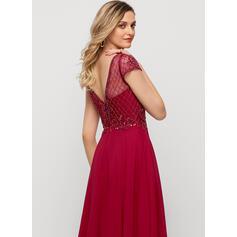 robes de soirée en dentelle à manches longues
