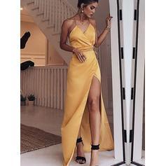 Sheath/Column Sleeveless Satin General Plus Evening Dresses (017219191)