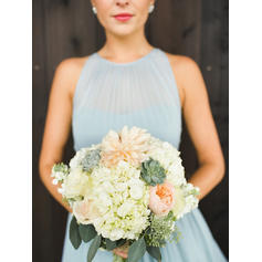 long bridesmaid dresses with sleeves