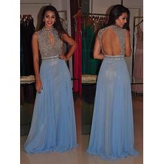 Beading Sleeveless A-Line/Princess Chiffon Magnificent Evening Dresses