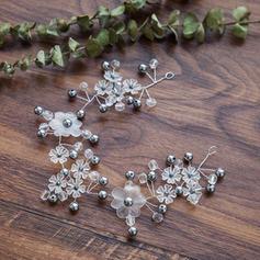 Señoras Hermoso La perla de faux Diademas