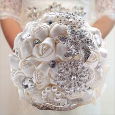 "Bridal Bouquets Round Wedding/Party Satin 9.45""(Approx.24cm) Wedding Flowers"