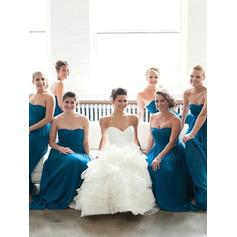 A-Line/Princess Sweetheart Floor-Length Bridesmaid Dresses With Ruffle (007145039)