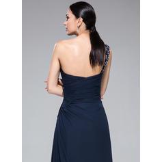Nuevo de 2019 Vestido tubo Gasa Hasta el suelo Sin mangas Vestidos de baile de promoción (018046254)