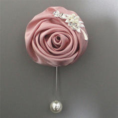 "Boutonniere Free-Form Wedding/Party/Casual Satin 4.72""(Approx.12cm) Wedding Flowers"