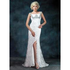 Forme Sirène/Trompette Hors-la-épaule Dentelle Sublime Robes mère de la mariée (008213111)