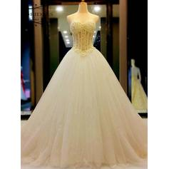 Ball-Gown Beading Tulle - Chic Wedding Dresses
