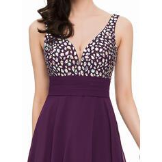 red short flowy prom dresses