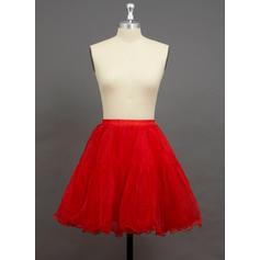 Petticoats Short-length Organza/Polyester A-Line Slip/Half Slip 2 Tiers Petticoats