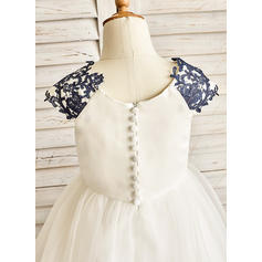 purple and white flower girl dresses