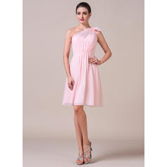 blush lace midcalf vestido de dama de honor