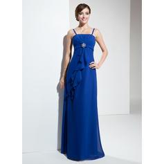 Empire Floor-Length Chiffon Floor-Length Bridesmaid Dresses (007001118)