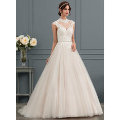 t-length lace wedding dresses