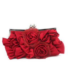 Clutches/Wristlets Wedding/Ceremony & Party Satin/Silk Kiss lock closure Charming Clutches & Evening Bags