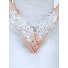 Lace Ladies' Gloves Wrist Length Bridal Gloves Fingerless Gloves