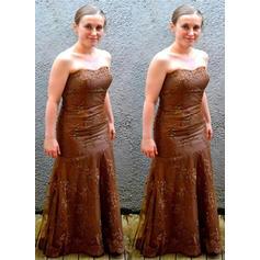 Forme Princesse Sans bretelle Tulle Chic Robes mère de la mariée