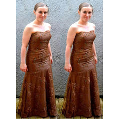 Vestidos princesa/ Formato A Sem Alças Tule Chic Vestidos para a mãe da noiva