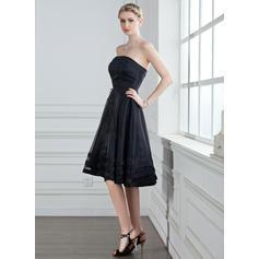 vestido de dama de honor de color spa corto