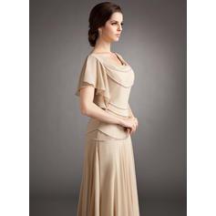 Corte A/Princesa cuello de la capucha Gasa Nuevo de 2019 Vestidos de madrina (008213103)