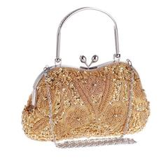Wristlets Wedding/Ceremony & Party Sequin/Alloy Kiss lock closure Elegant Clutches & Evening Bags