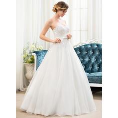 flowy hvide tilfælde brudekjoler