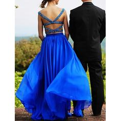 Sleeveless Stunning Chiffon Sweetheart Prom Dresses