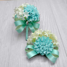 "Wrist Corsage/Boutonniere Free-Form Wedding Silk linen 2.76""(Approx.7cm) Wedding Flowers"
