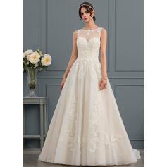 t-length lace wedding dresses