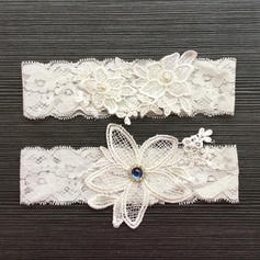 Garters Women/Bridal Wedding/Special Occasion Lace With Flower/Rhinestone/Imitation Pearls Garter