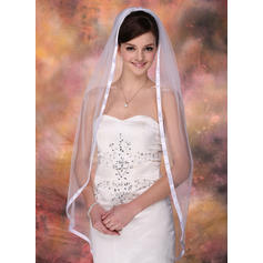 Waltz Bridal Veils Tulle One-tier Mantilla With Ribbon Edge Wedding Veils