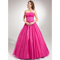 8932627dfb Ball-Gown Organza Prom Dresses Princess Floor-Length Sweetheart Sleeveless  (018135523)  prom dresses american sites ...