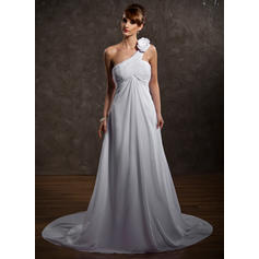 General Plus One Shoulder Empire - Chiffon Wedding Dresses (002211147)