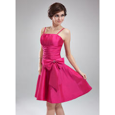 Knee-Length A-Line/Princess Sleeveless Taffeta Bridesmaid Dresses
