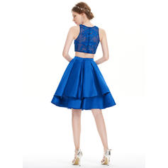 champagne homecoming dresses short
