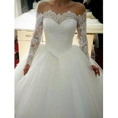 Lace Long Sleeves Ball-Gown - Tulle Wedding Dresses