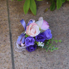 "Wrist Corsage Wedding Satin 3.54"" (Approx.9cm) 3.54"" (Approx.9cm) Wedding Flowers"