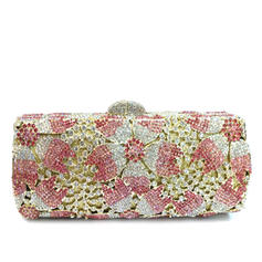 Clutches/Bridal Purse/Luxury Clutches Wedding/Ceremony & Party Crystal/ Rhinestone/Gold Plated Clip Closure Delicate Clutches & Evening Bags