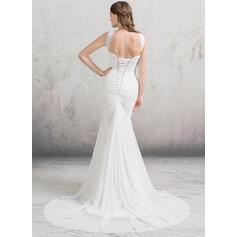 simple peach wedding dresses