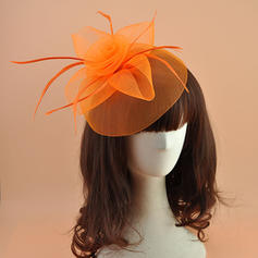 Damer' Elegant polyester med Fjäder Fascinators