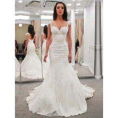 Lace Chapel Train With General Plus Wedding Dresses (002144914)